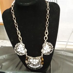 Vintage Rhinestone Art Deco Style Necklace